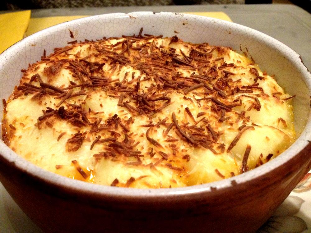 Guisantes a la crema en myVeg restaurante, Madrid